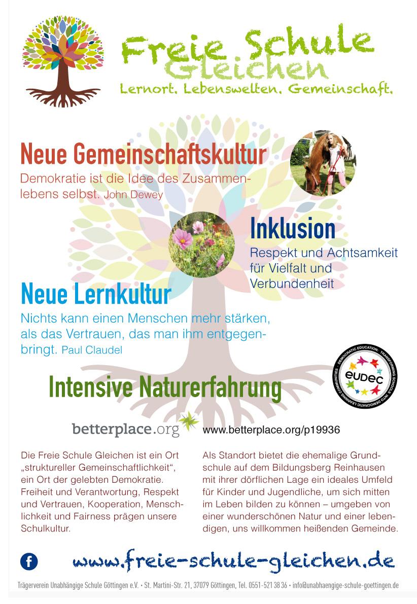 Poster Freie Schule Gleichen digital